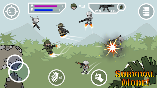 Doodle Army 2 Mini Militia MOD APK Pro Pack Purchased 4.2.5 2