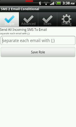 SMS 2 Email Conditional