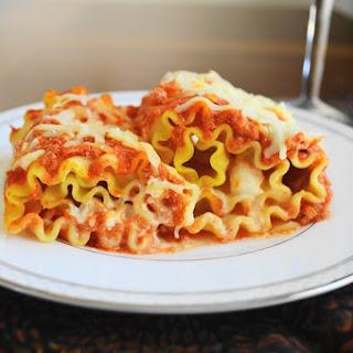 Shrimp Scampi Lasagna Rolls.