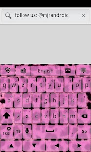 Pink Cheetah GO Keyboard Theme - screenshot thumbnail