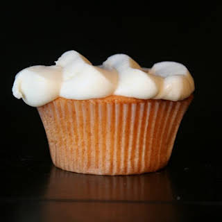 Peach Cupcakes with Cream Cheese Frosting.