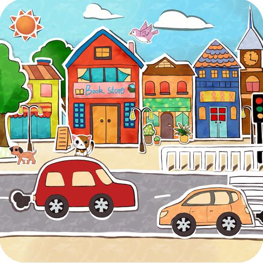 卡通城市动态壁纸 個人化 App LOGO-APP試玩