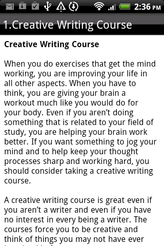Creative writing essays online