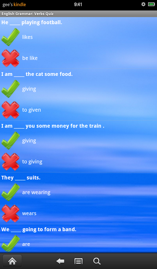 English Grammar: Verbs Free - screenshot