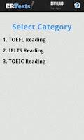 Screenshot of English Reading Test