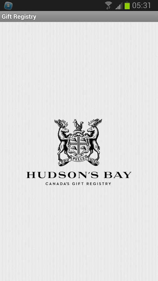 Hudson's Bay Gift Registry- screenshot