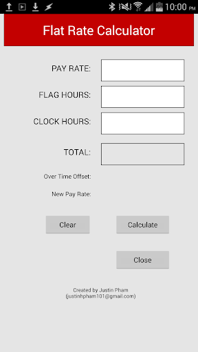 Flat Rate Calculator