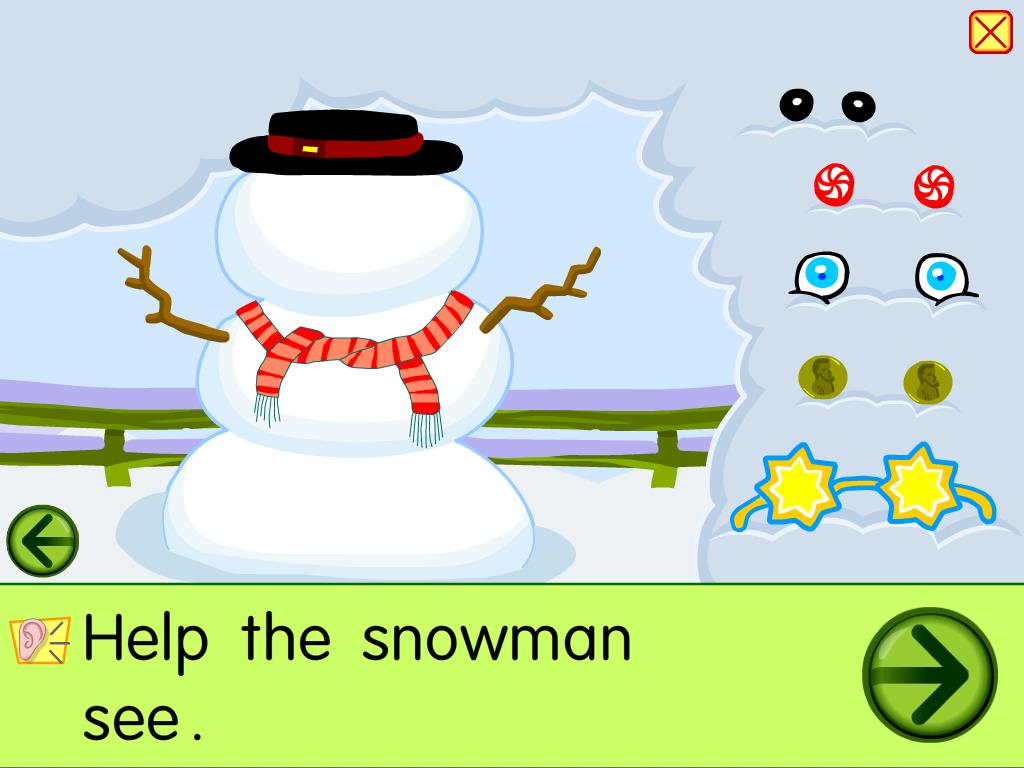 starfall snowman screenshot