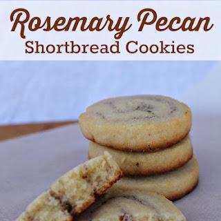 Delicate Rosemary Pecan Shortbread Cookies