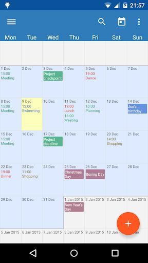 Touch Calendar Free  screenshots 1