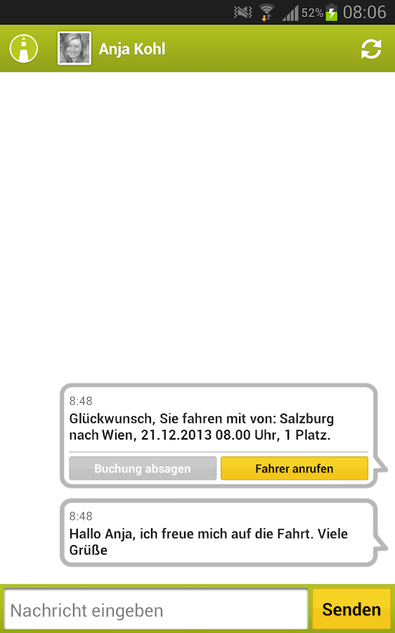 mitfahrgelegenheit.at- screenshot