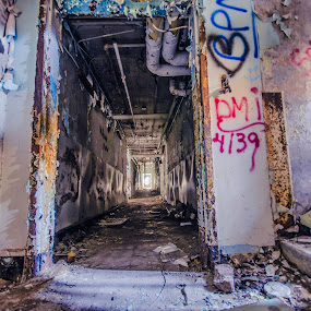 Someone lied - long exposure composite by Fran Kat - Buildings & Architecture Decaying & Abandoned ( urban exploration, urbex, urban decay, colors, long exposure, composite, decay, abandoned,  )