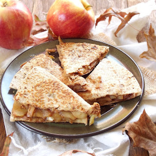 "Sauteed Apple Peanut Butter ""Quesadilla"""