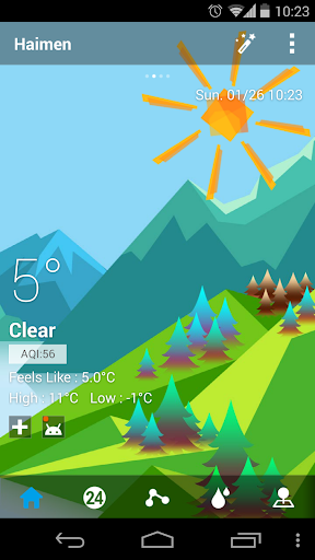 Mount Background GO Weather