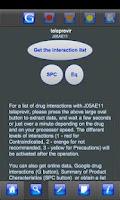 Screenshot of Drug Interactions