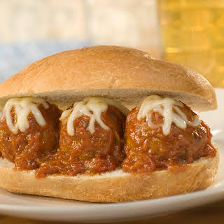 Meatball Hero Sandwiches.