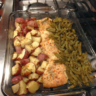 Italian Chicken Potato and Green Bean Bake