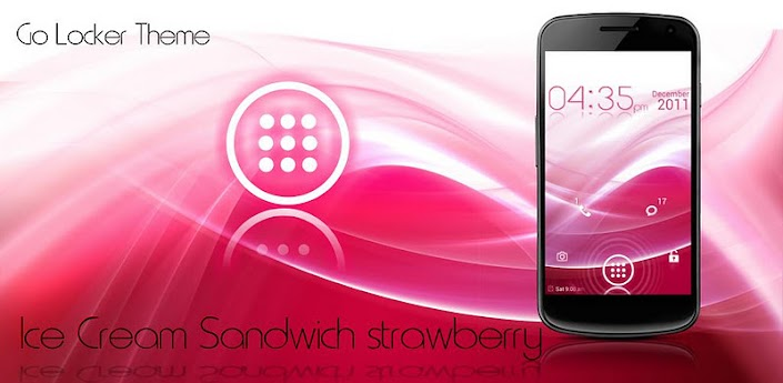 ICS Pink Lockscreen HD v1 apk