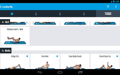 Runtastic six pack entrenamiento para abdominales for App para hacer planos