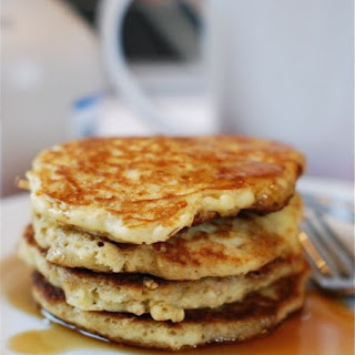Oatmeal Almond Pancakes.