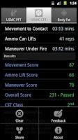 Screenshot of USMC PFT & CFT Calculator