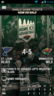 MN Wild Official- screenshot thumbnail