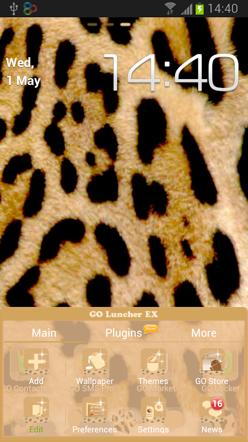 GO Launcher EX Leopard Theme - screenshot