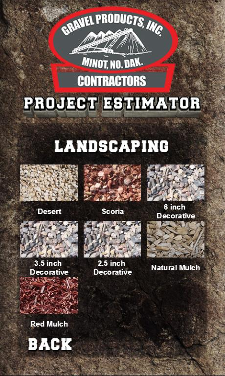 Gravel Products - Project Est.- screenshot