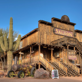 Mammoth Saloon by Eddie Yerkish - Buildings & Architecture Public & Historical ( old, desert, saloon, goldfield, mammoth, apache, ghost, junction, alcohol, outdoors, arizona, drink, western, town, bar, liquor, west, saguaro, cactus )