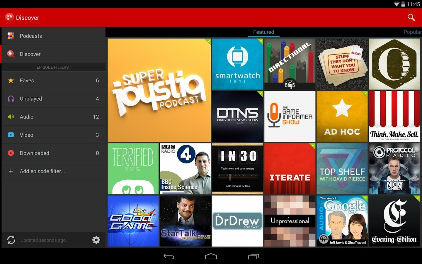 Pocket Casts - screenshot