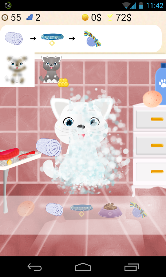 cat salon games- screenshot