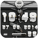dragon digital clock white icon
