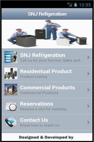 SNJ Refrigeration App