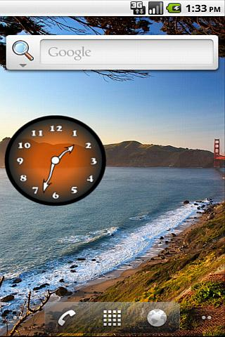 Analog Clock Orange