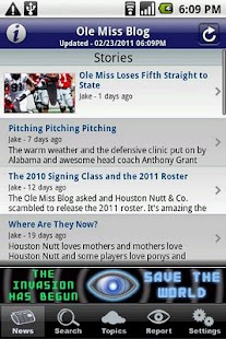 Ole Miss Blog - screenshot thumbnail