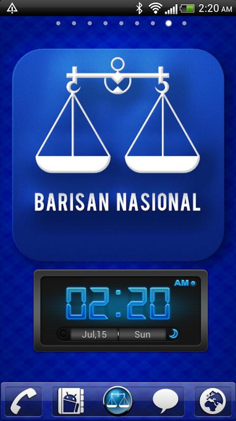 Barisan Nasional Theme - screenshot