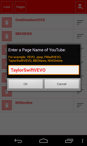 YouTube Channel List