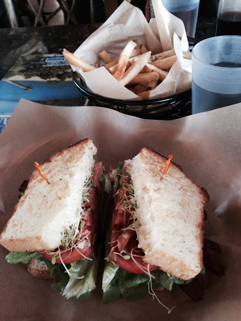 BLT on gluten-free bread! Yummy!