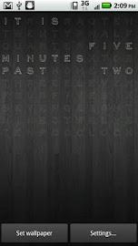 Text Clock Pro Live Wallpaper Screenshot 4