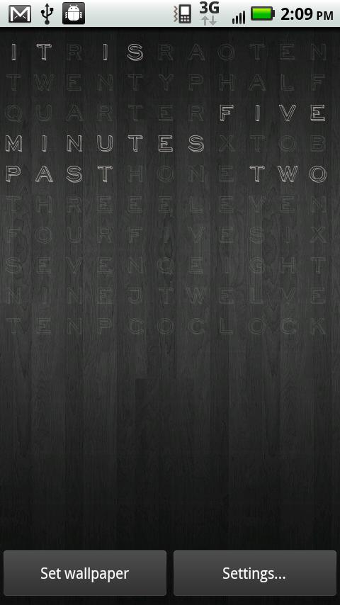 Text Clock Pro Live Wallpaper- screenshot