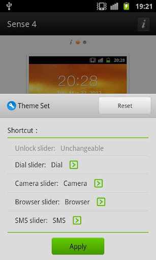 Sense 4 lockscreen GO Locker v1.0