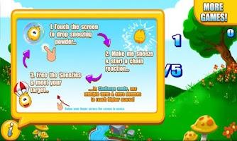 Screenshot of Sneezies - Chain Reaction Lite