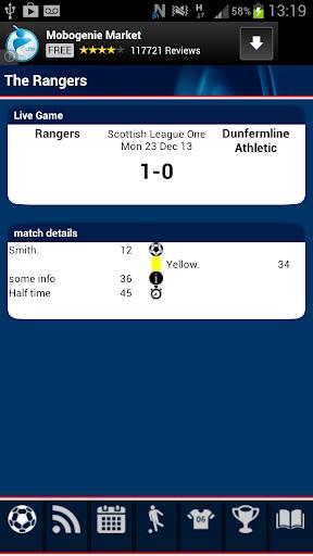 Rangers Match Alert