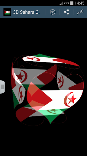 3D Sahara Cube Flag LWP