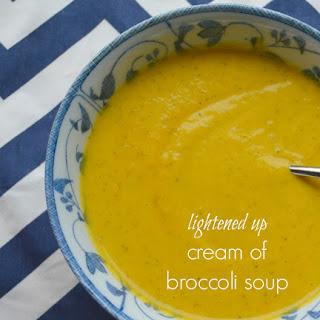 Lightened Up Cream of Broccoli Soup