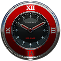 red snake clock widget icon