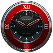 red snake clock widget