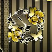Gold Krone clockWidget