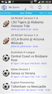 Live Sport On TV Worldwide- screenshot thumbnail