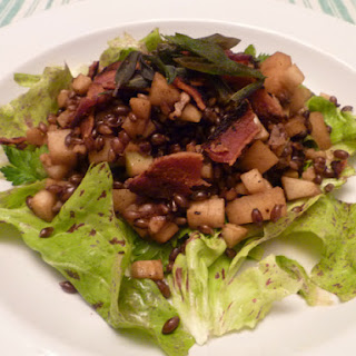 Barley Salad with Apples, Walnuts, and Deep Fried Sage
